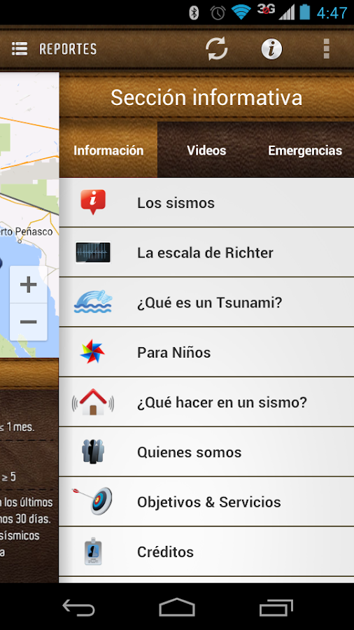 Red Sísmica Noroeste de México- screenshot