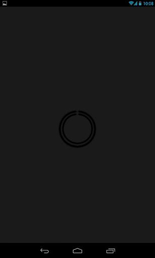 Black C-Circle Neon Clock