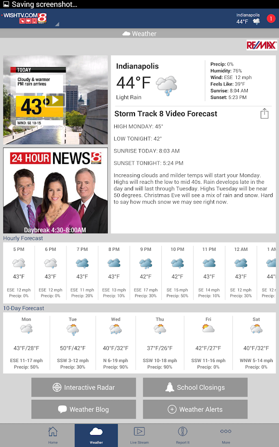 WISH TV 24-Hour News 8- screenshot