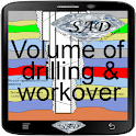 Volume of drilling & workover icon