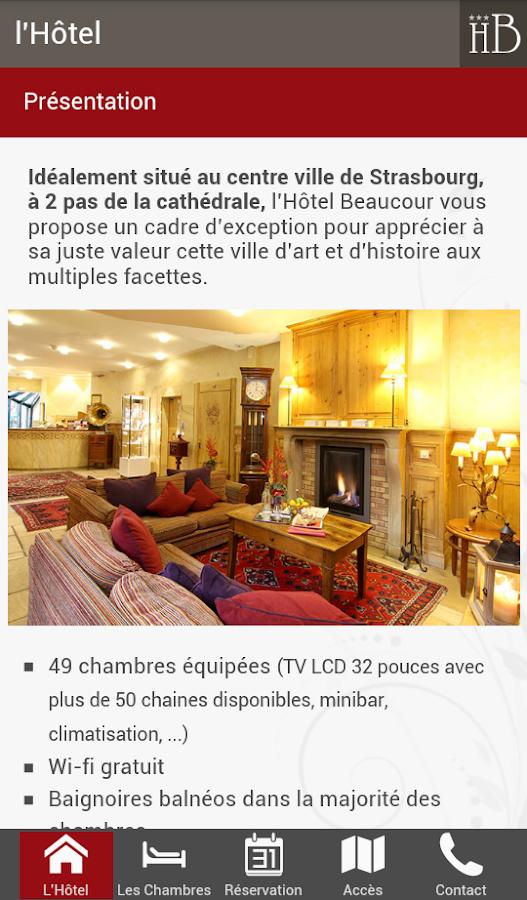 Hôtel Beaucour - Strasbourg– Capture d'écran