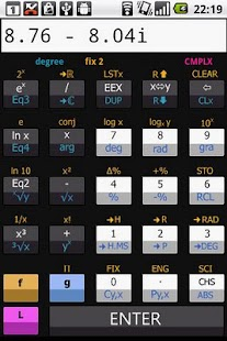 Scientific RPN calculator - screenshot thumbnail