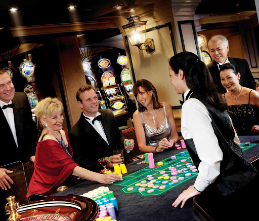 Cunard-Queen-Victoria-Empire-Casino - Luck be a lady tonight: Try your hand at blackjack, roulette and other games of chance at Queen Victoria's elegant Empire Casino.