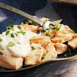 Samak Tarator (Poached Fish with Pine Nut Sauce).