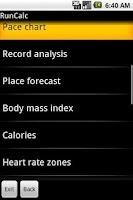 Screenshot of RunCalc (Netmite)