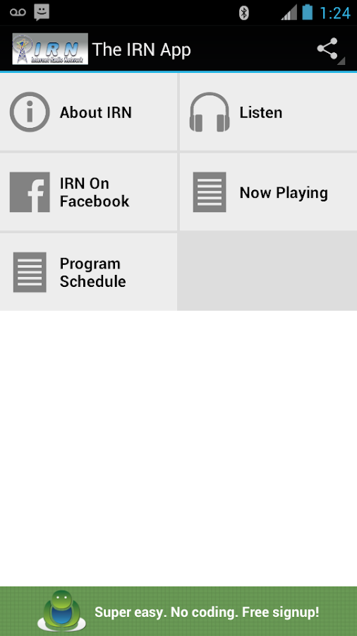 IRN App- screenshot
