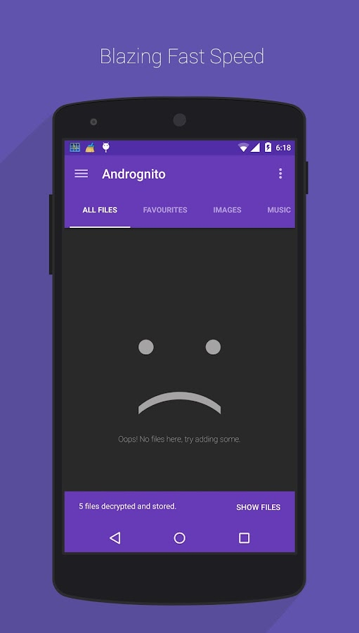 Andrognito 2 - Hide Files - screenshot