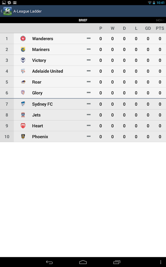 A-League Live 2013/2014 - screenshot
