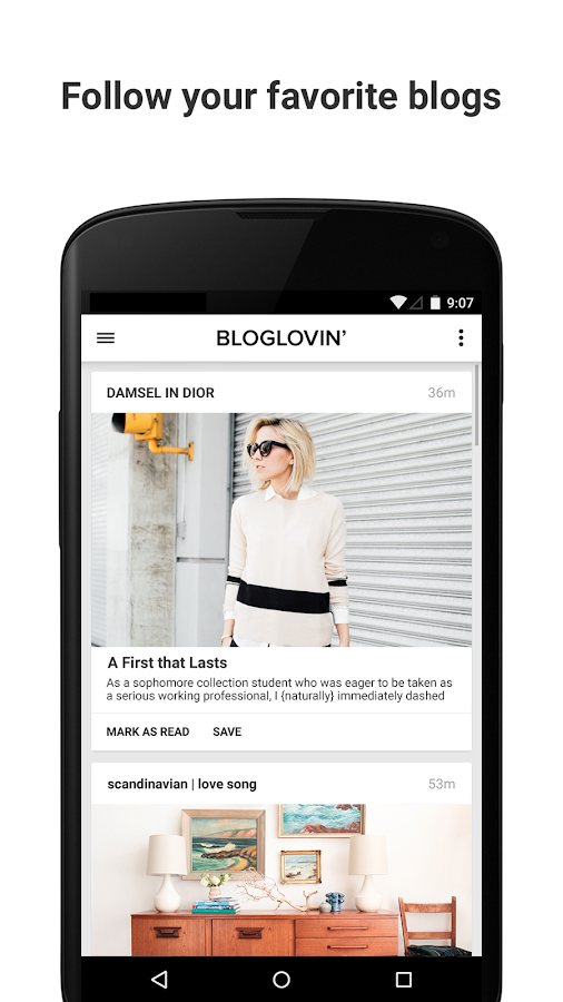 Bloglovin'- screenshot