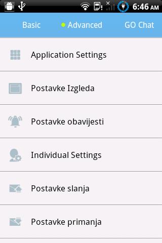 GO SMS Pro Croatian language