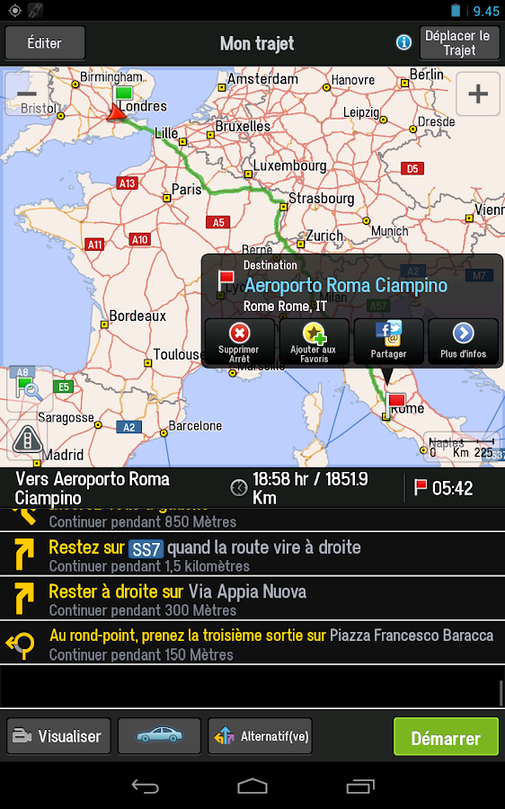 CoPilot Premium Europe l'Ouest- screenshot