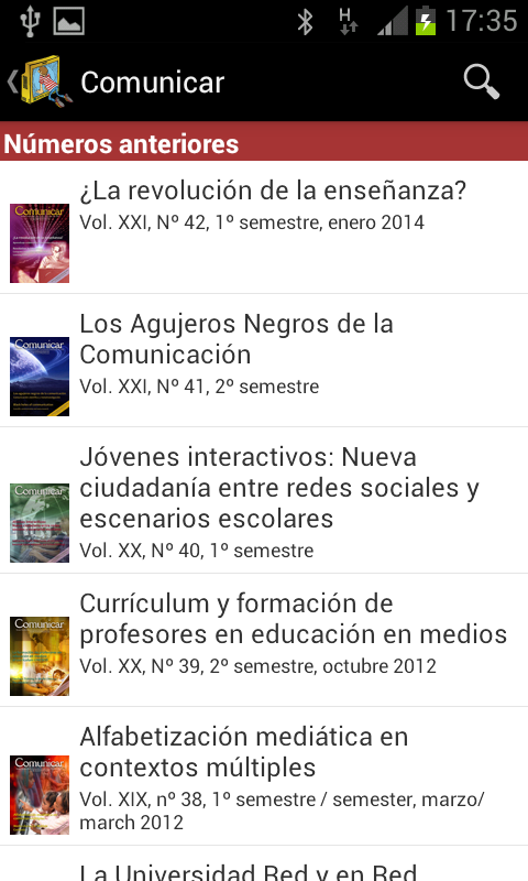 Comunicar Journal- screenshot