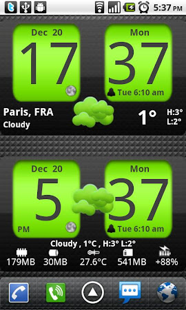 Flip Clock xTheme Widget 4x2 4.2.4 screenshot 201185