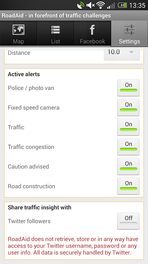 RoadAid - traffic & police - screenshot