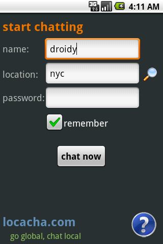 Locacha - Chat Rooms - screenshot