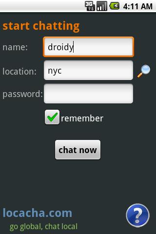 Locacha - Chat Rooms - screenshot