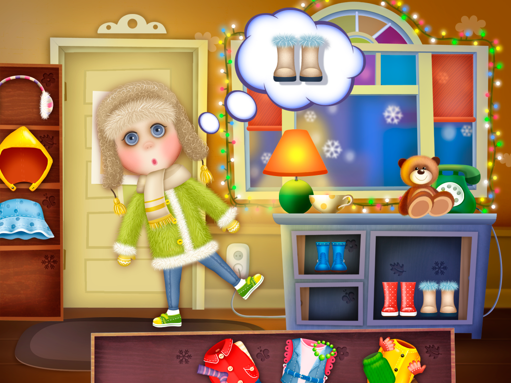 Guess the Dress (app for kids)- screenshot