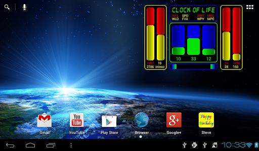 【免費娛樂App】Clock of Life (space) LWP-APP點子