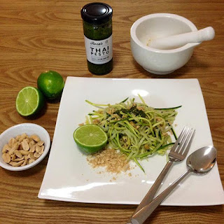 Zucchini Noodles with Thai Pesto.