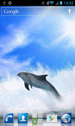 Dolphin in the sea wave LWP