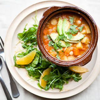 White Bean Chili with Winter Vegetables.