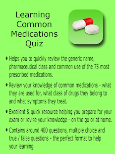 Learning Common Medications- screenshot thumbnail