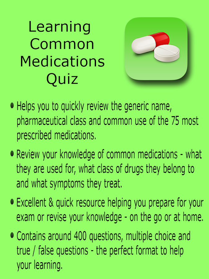 Learning Common Medications- screenshot