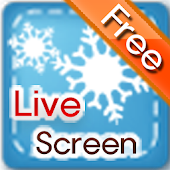 snowy winter theme,Live Screen