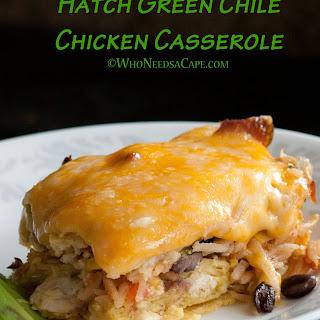 Hatch Green Chile Chicken Casserole.