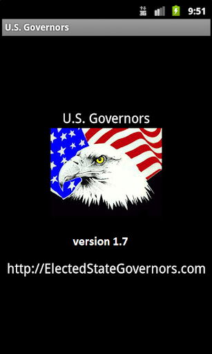 US Governors Flag Bird Flowers