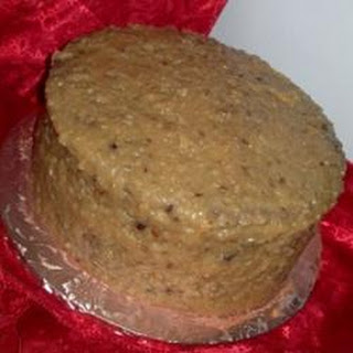 German Chocolate Frosting with Walnuts.