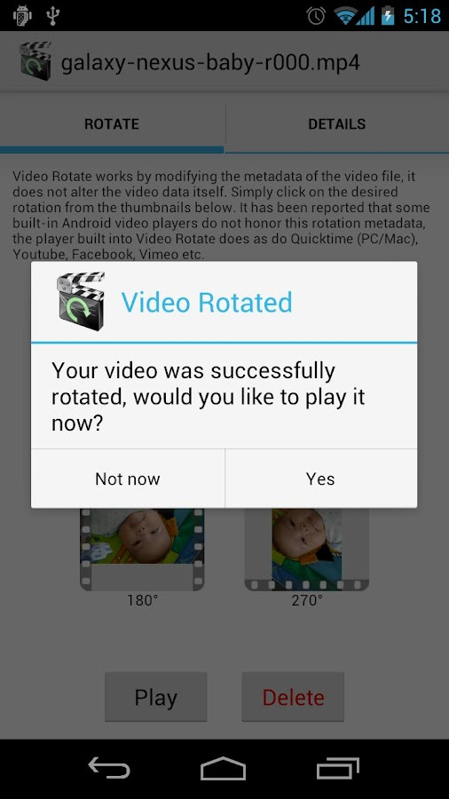 Video Rotate - screenshot