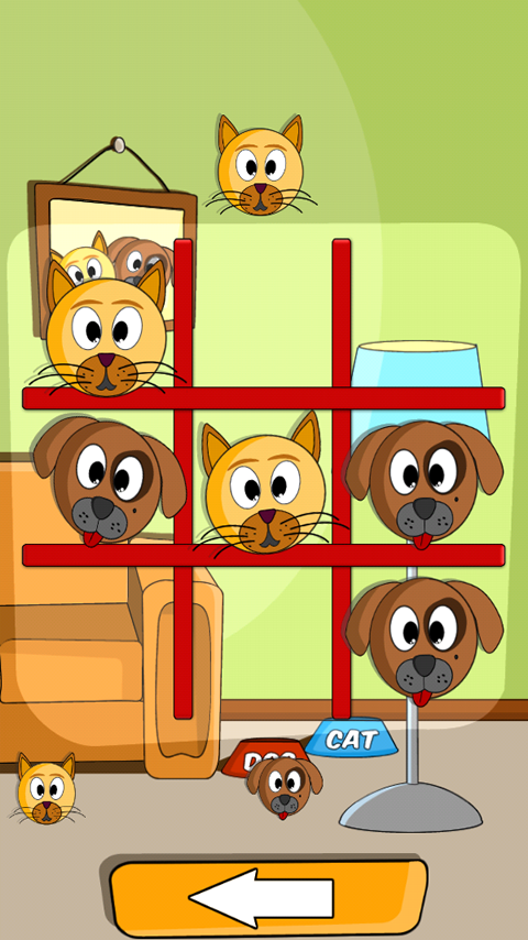 Cat Dog Toe 🐱🐶 - Tic Tac Toe Game ⭕️❌- screenshot