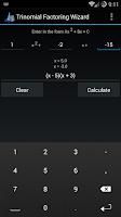 Screenshot of Trinomial Factoring Wizard