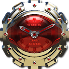 Red Storm Clock Widget icon