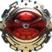 Red Storm Clock Widget