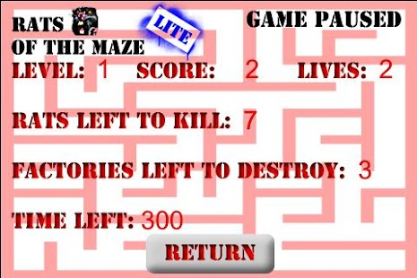Rats of the Maze Lite - screenshot thumbnail