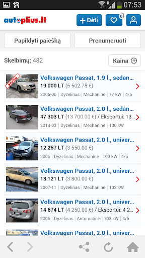 Autoplius.lt screenshot