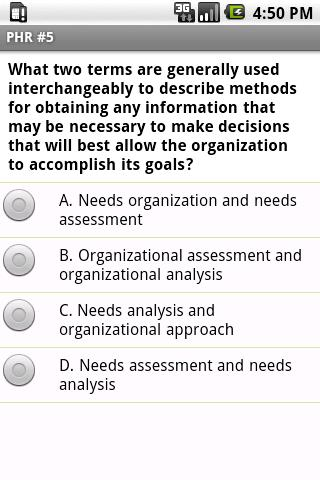 PHR Human Resources Exam Prep - screenshot