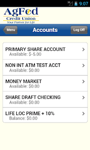 AgFed Credit Union Mobile - screenshot thumbnail
