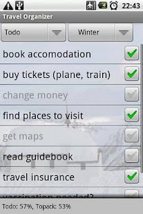 Travel Organizer - screenshot thumbnail