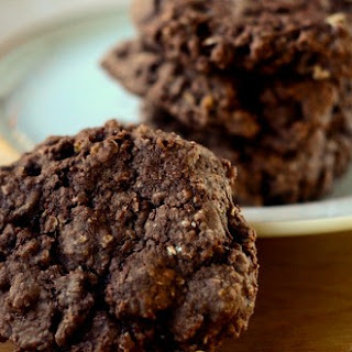 Low Fat Double Chocolate Oatmeal Cookies.