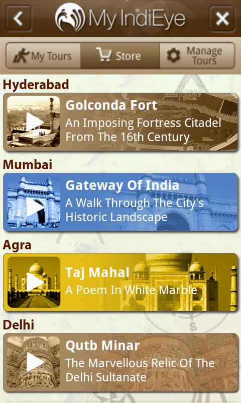 India GPS Video Tours - screenshot