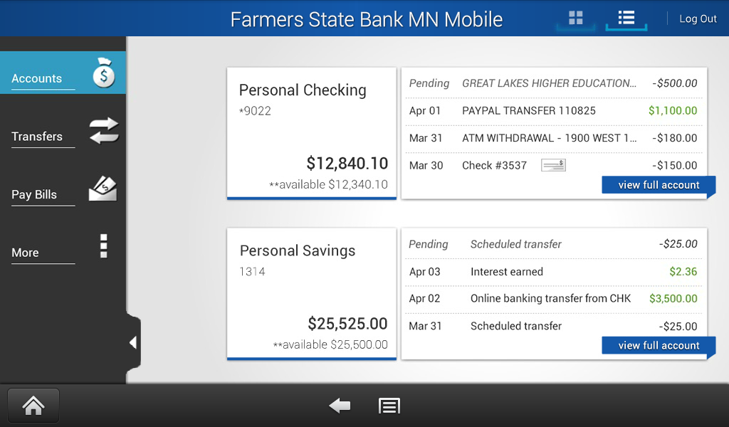 Farmers State Bank MN Mobile - screenshot