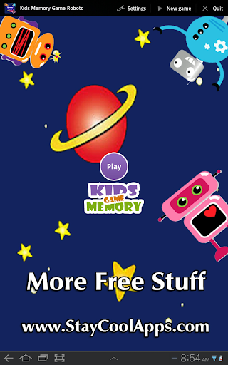 Kids Memory Game: Robots