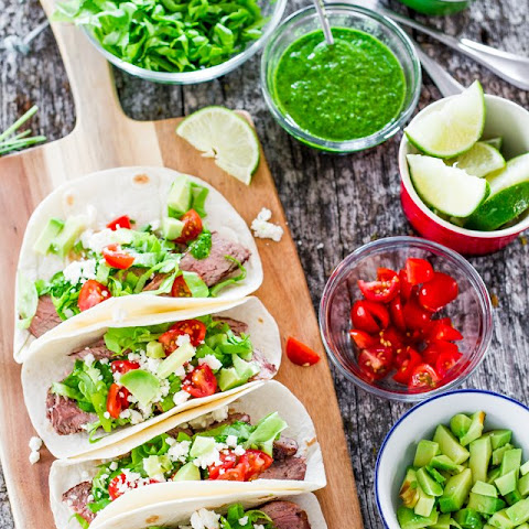 Shrimp Tacos With Avocado - Chimichurri Sauce Recipe ...