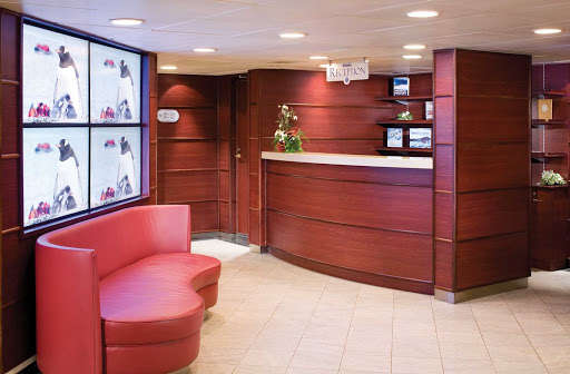 Silversea_Reception - At Silversea's reception desk, a service attendant is available 24/7 to answer any of your questions or help you with the services available on your cruise.