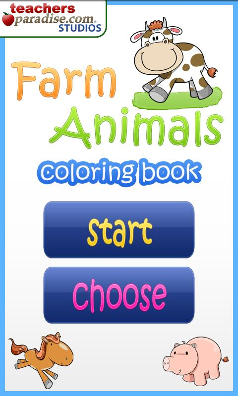 Farm Animals Coloring Book - screenshot