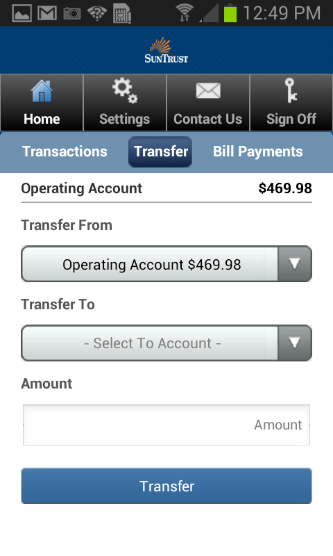suntrust online cash manager sign on