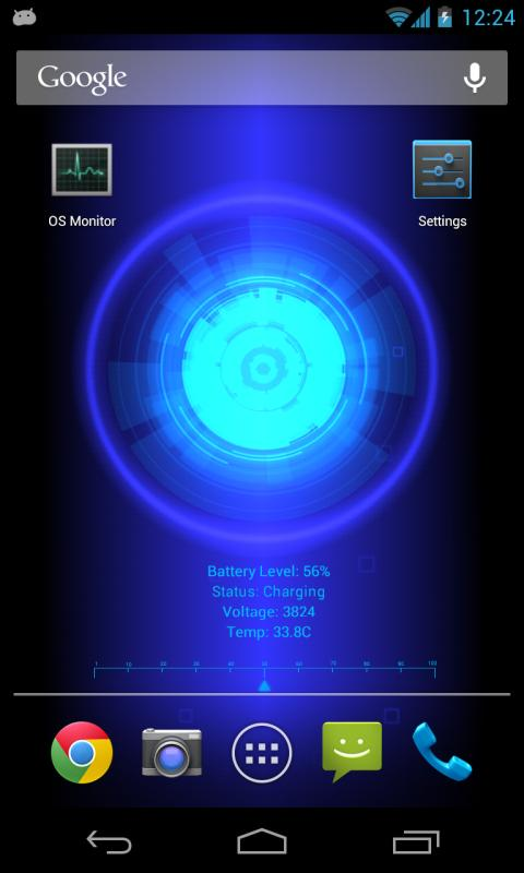 Battery Core Live Wallpaper(P) - screenshot